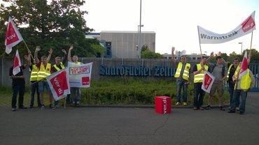 Druckhaus der Saarbrücker Zeitung bestreikt