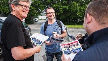 Streik bei Tiefdruck Schwann-Bagel in Mönchengladbach