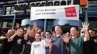 Axel Springer Druck Berlin bestreikt