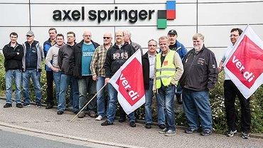 Axel Springer Offsetdruckerei Kettwig bestreikt