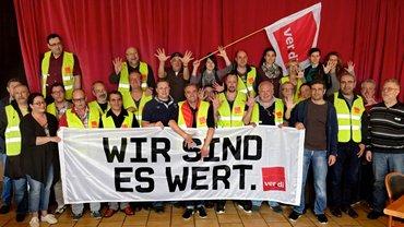 Streikende in Stuttgart