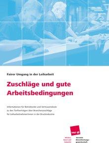 Broschüre Zuschläge Druckindustrie
