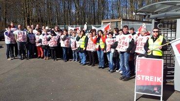 Warnstreik STI Grebenhain 12. März 2015 Spätschicht