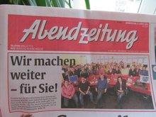 Insolvenzmeldung Abendzeitung