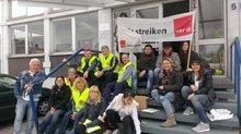 Streikende der Rhein-Neckar-Zeitung