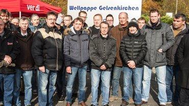 Mahnwache Wellpappewerk Gelsenkirchen