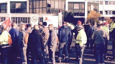 Warnstreik bei DS Smith Fulda 24. Nov. 2016