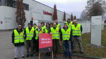 Warnstreik bei Edelmann in Weilheim