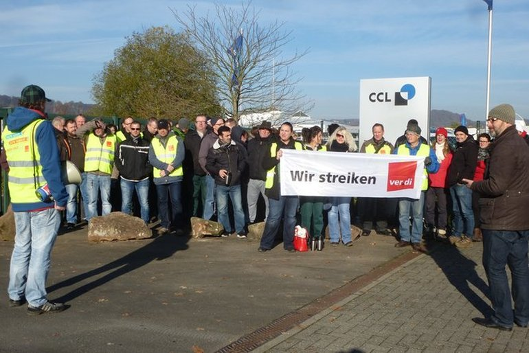 Warnstreik Frühschicht CCL Label Marburg