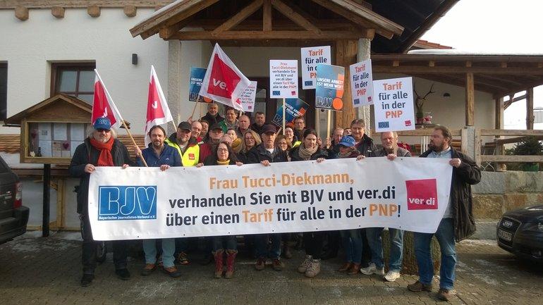 Passauer Neue Presse Gmbh und Donau Wald Presse GmbH bestreikt