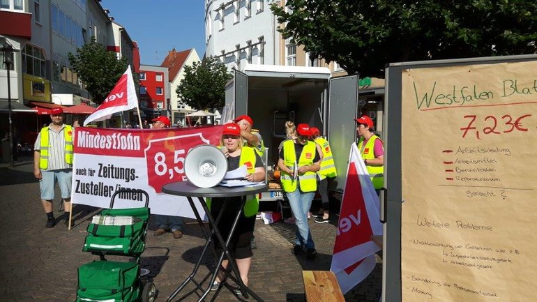 Zustellerprotest Westfalendruck