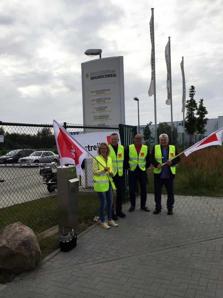 Druckzentrum Braunschweig bestreikt
