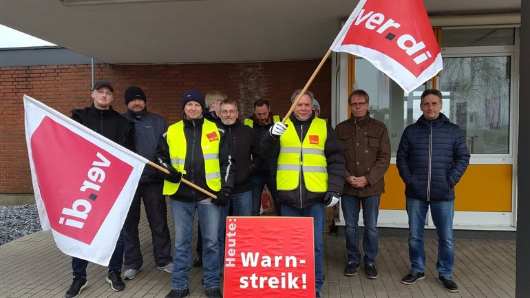 Warnstreik bei DS Smith Minden