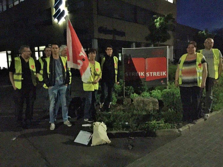 Warnstreik der Druckereibeschäftigten des Gießener Anzeiger am 23. Mai 2017