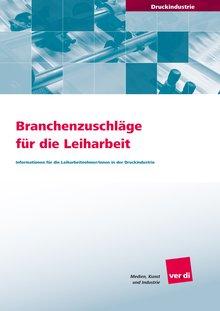 Broschüre Branchenzuschläge Druckindustrie