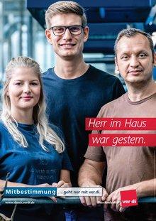 Plakat Druckindustrie Mitbestimmung 2018