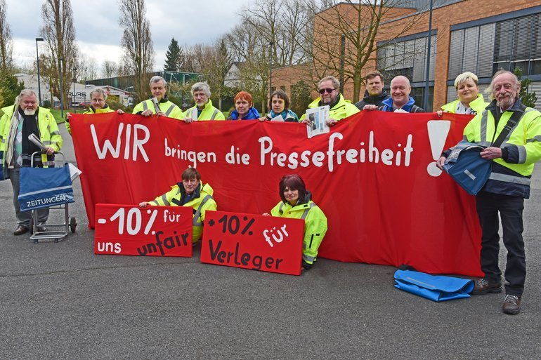Protest Zeitungszusteller
