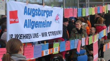 Streik Augsburger Allgemeine Verlag + Redaktion 240314