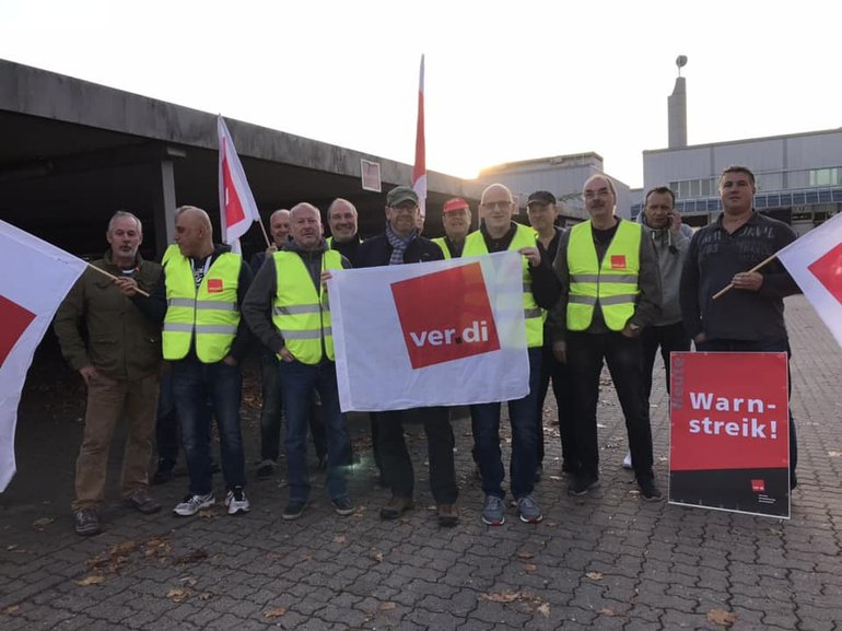 Streik bei Axel Springer Ahrensburg