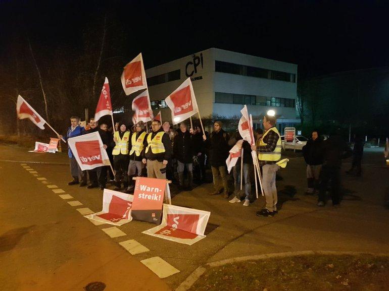 Warnstreik bei Ebner & Spiegel Ulm