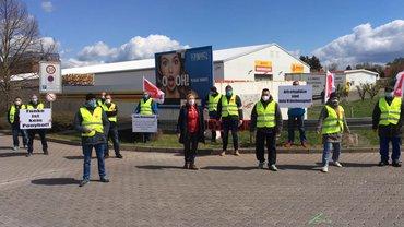 Streik Druckzentrum Erfurt
